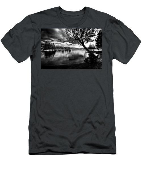 Men's T-Shirt (Athletic Fit) featuring the photograph Beach Silhouette by David Patterson