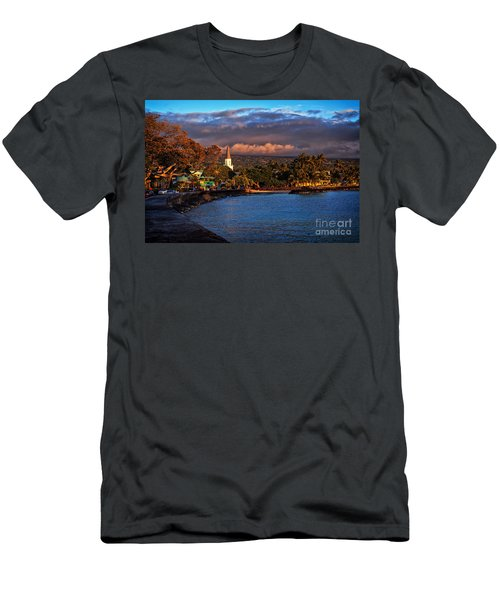 Beach Town Of Kailua-kona On The Big Island Of Hawaii Men's T-Shirt (Athletic Fit)
