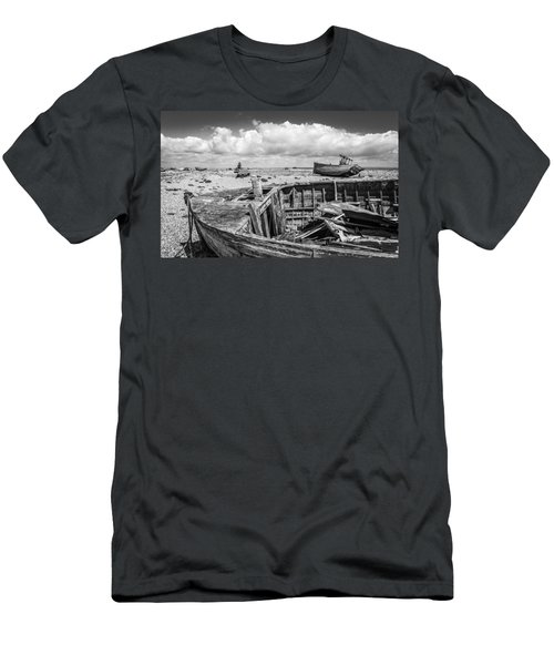 Beached Boats. Men's T-Shirt (Athletic Fit)