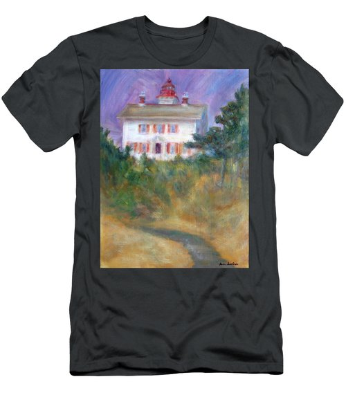 Beacon On The Hill - Lighthouse Painting Men's T-Shirt (Athletic Fit)