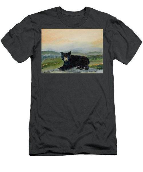 Bear Alone On Blue Ridge Mountain Men's T-Shirt (Athletic Fit)