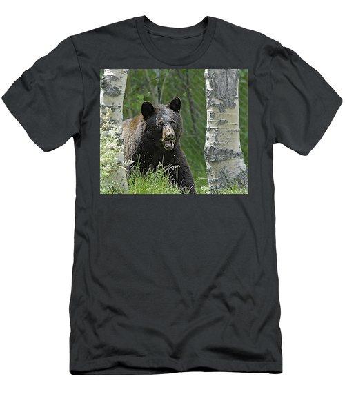Bear In Yard Men's T-Shirt (Athletic Fit)