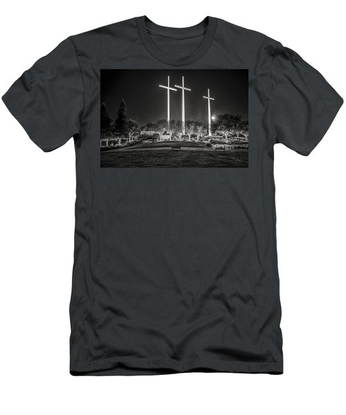 Bearing Witness In Black-and-white Men's T-Shirt (Slim Fit) by Andy Crawford