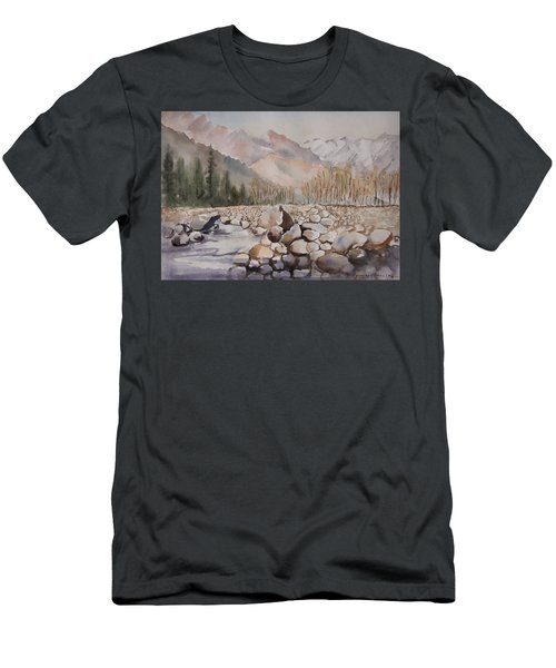 Beas River Manali Men's T-Shirt (Athletic Fit)