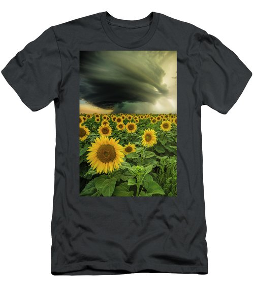 Men's T-Shirt (Athletic Fit) featuring the photograph Beautiful Destruction  by Aaron J Groen
