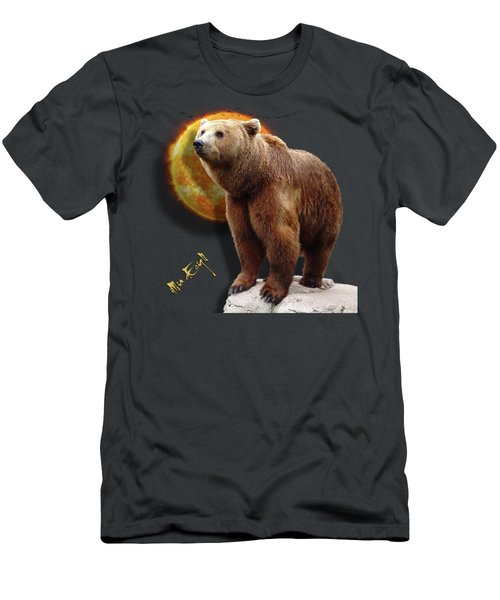 Beautiful Grizzly Bear Men's T-Shirt (Athletic Fit)