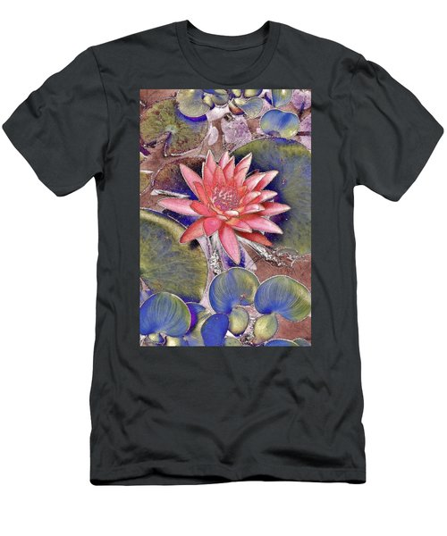 Beautiful Pink Lotus Abstract Men's T-Shirt (Athletic Fit)