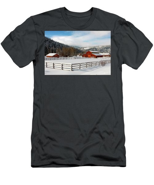 Men's T-Shirt (Athletic Fit) featuring the photograph Beautiful Winter Morning by Ronnie and Frances Howard