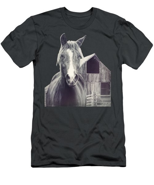 Beauty And The Barn Men's T-Shirt (Athletic Fit)
