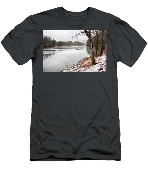 Men's T-Shirt (Athletic Fit) featuring the photograph Beauty Of December By Muskoka Lakes by Tatiana Travelways