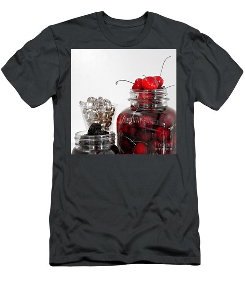 Beauty Of Red Cherries Men's T-Shirt (Athletic Fit)