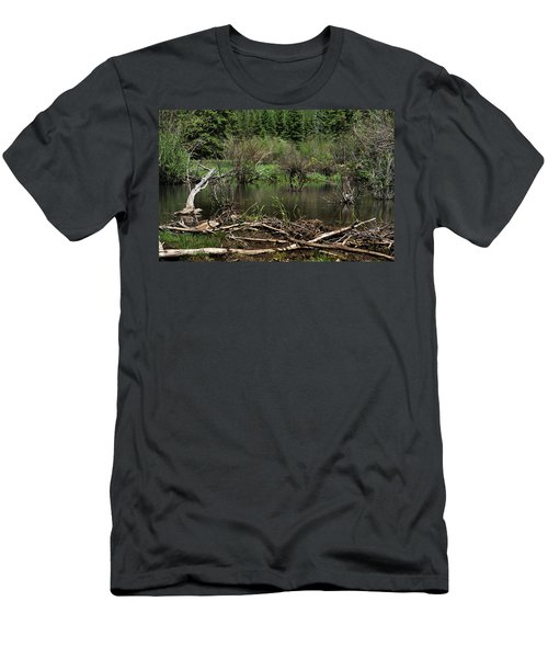 Men's T-Shirt (Athletic Fit) featuring the photograph Beaver Pond by Ron Cline
