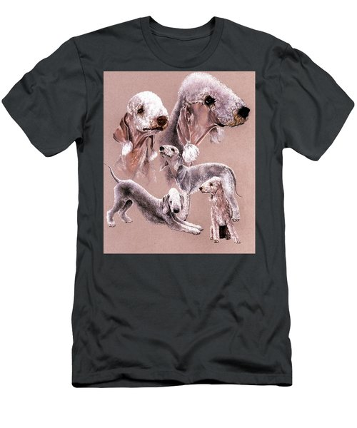 Men's T-Shirt (Athletic Fit) featuring the drawing Bedlington Terrier by Barbara Keith