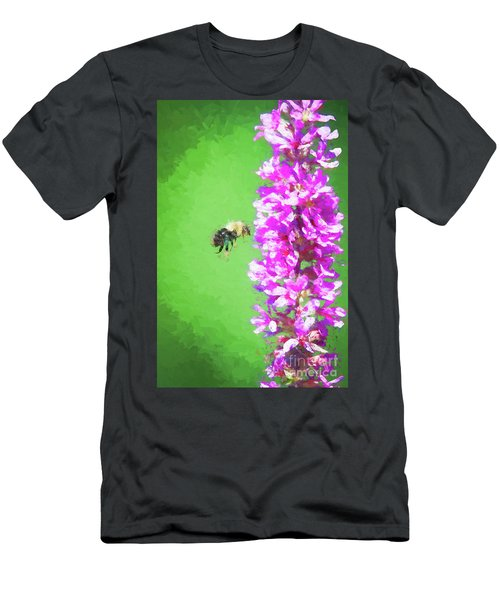 Bee Kissing A Flower Men's T-Shirt (Athletic Fit)