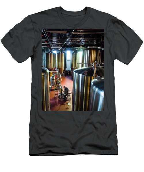 Men's T-Shirt (Slim Fit) featuring the photograph Beer Vats by Linda Unger