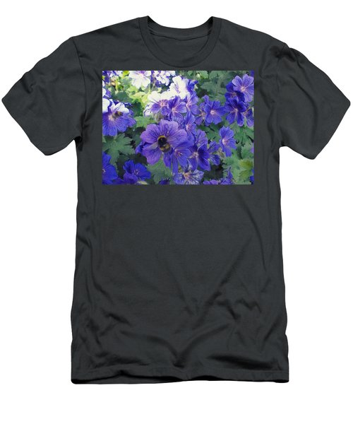 Bees And Flowers Men's T-Shirt (Athletic Fit)