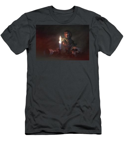 Men's T-Shirt (Slim Fit) featuring the photograph Beethoven By Candlelight by Tom Mc Nemar