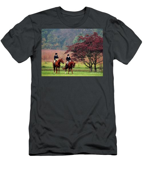 Men's T-Shirt (Slim Fit) featuring the photograph Before The Hunt by Polly Peacock
