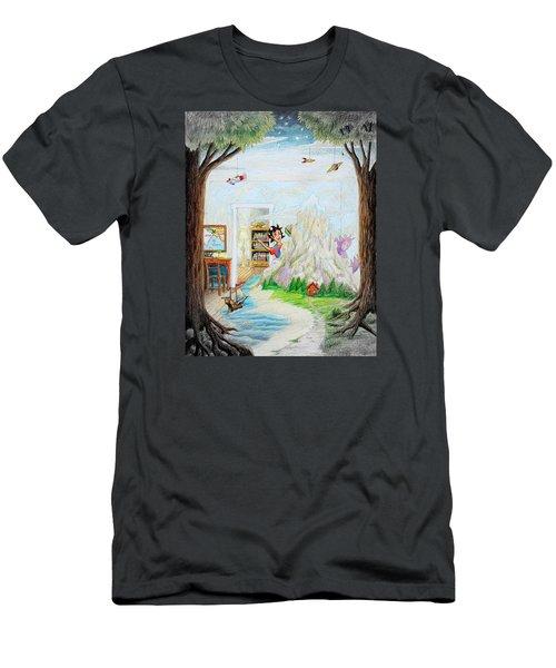 Beginning A Book Men's T-Shirt (Slim Fit) by Matt Konar
