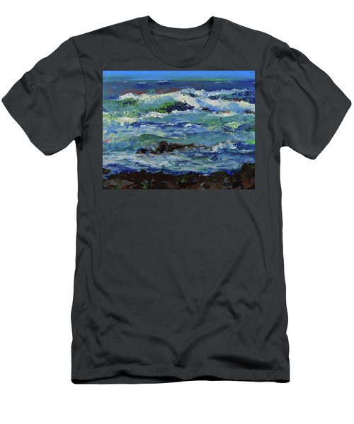 Men's T-Shirt (Athletic Fit) featuring the painting Beginning Of A Storm by Walter Fahmy