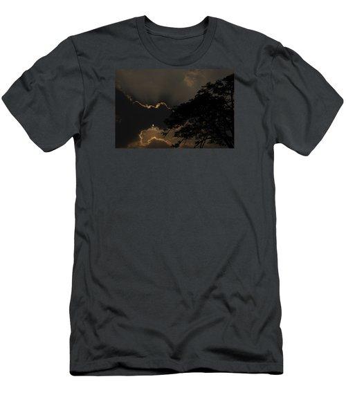 Behind The Cloud Men's T-Shirt (Slim Fit) by Kiran Joshi