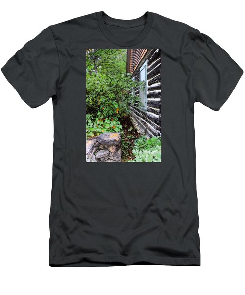 Men's T-Shirt (Slim Fit) featuring the digital art Behind The Dorm At The Clearing by David Blank