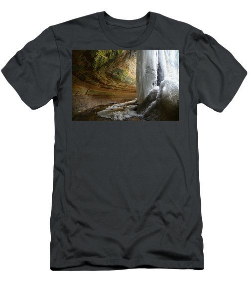 Behind The Ice Falls Men's T-Shirt (Athletic Fit)