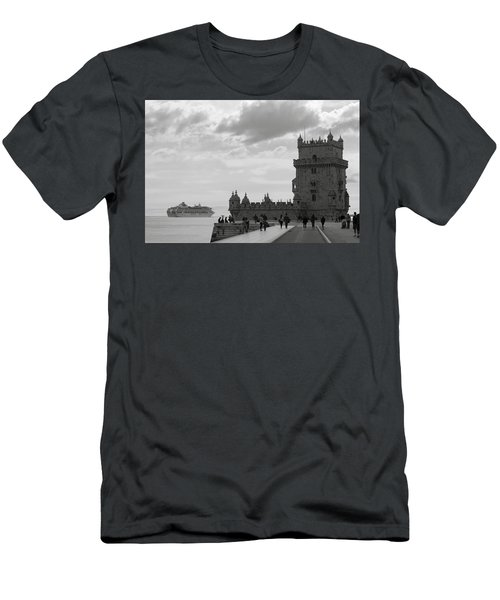 Men's T-Shirt (Slim Fit) featuring the photograph Belem And The Boat by Lorraine Devon Wilke