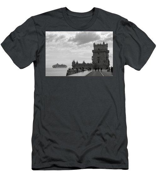 Belem And The Boat Men's T-Shirt (Slim Fit) by Lorraine Devon Wilke