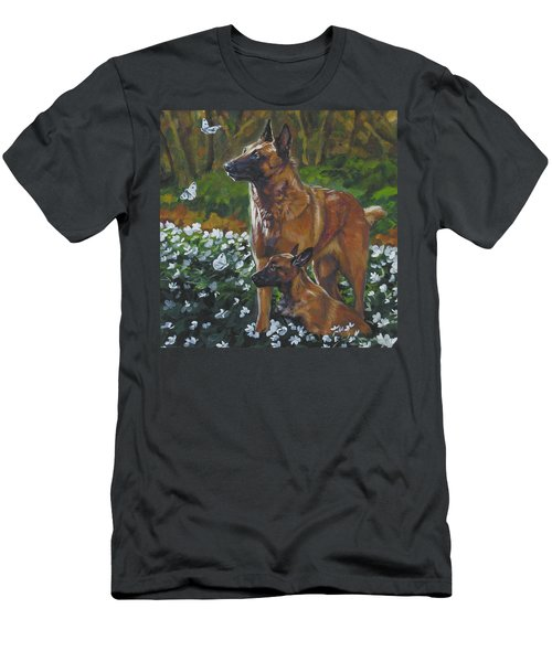 Belgian Malinois With Pup Men's T-Shirt (Athletic Fit)