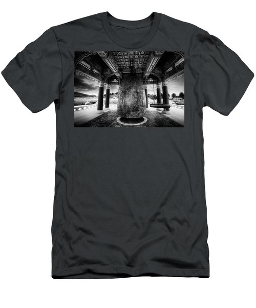 Men's T-Shirt (Slim Fit) featuring the photograph Bell Of Friendship B W  by Joseph Hollingsworth