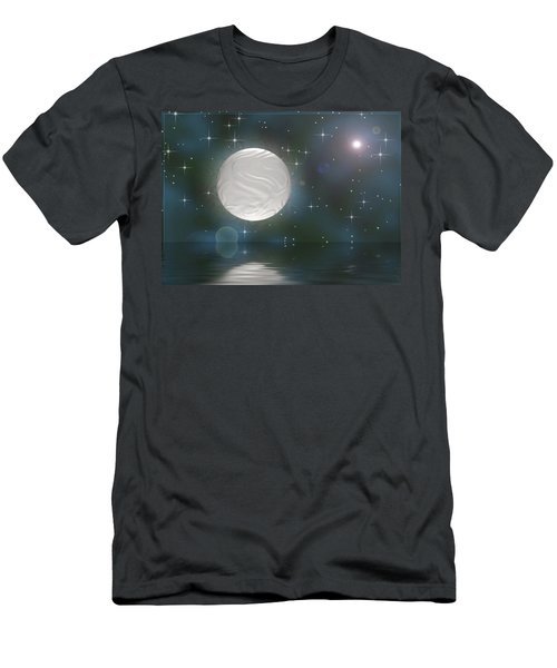 Men's T-Shirt (Slim Fit) featuring the digital art Bella Luna by Wendy J St Christopher