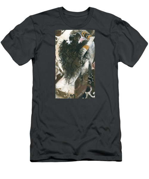 Men's T-Shirt (Slim Fit) featuring the painting Belly Dancer And The Mirror by Maya Manolova