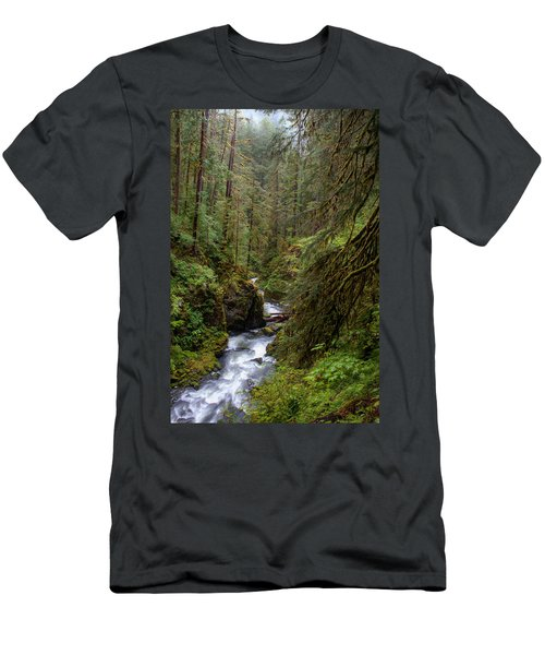 Below The Falls Men's T-Shirt (Athletic Fit)