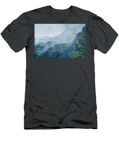 Below Wallace Falls Men's T-Shirt (Athletic Fit)