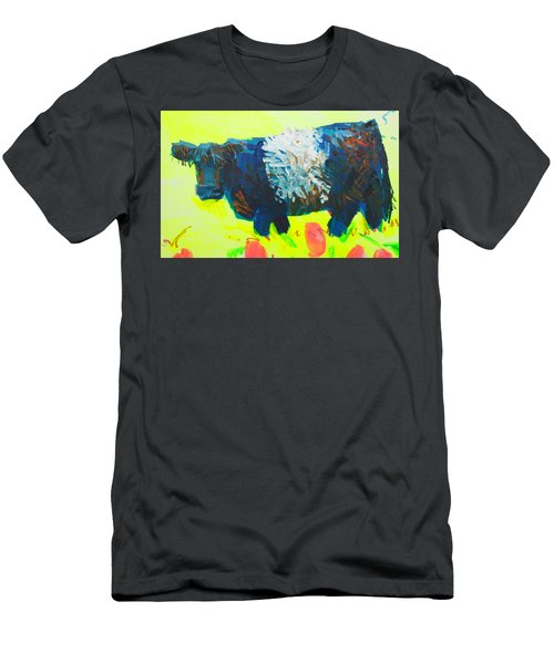 Belted Galloway Cow Looking At You Men's T-Shirt (Athletic Fit)