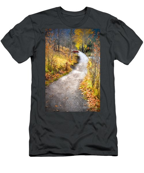 Bench On A Hill Men's T-Shirt (Athletic Fit)