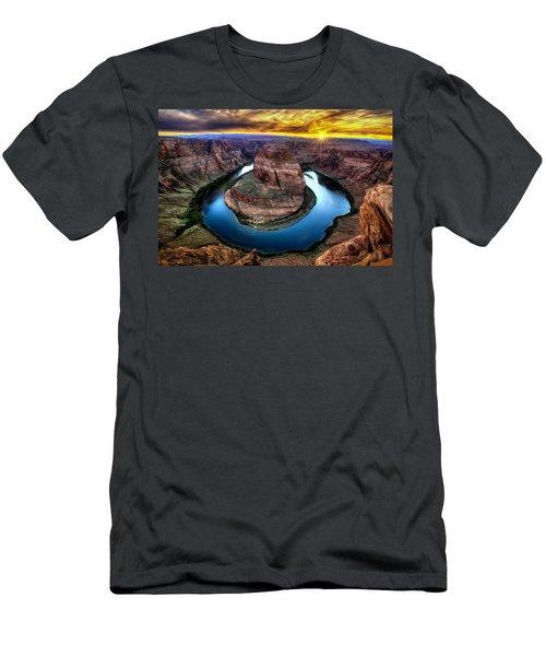 Bending Colors Men's T-Shirt (Athletic Fit)