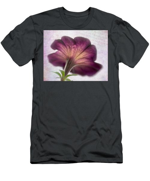 Men's T-Shirt (Slim Fit) featuring the photograph Beneath A Dreamy Petunia by David and Carol Kelly