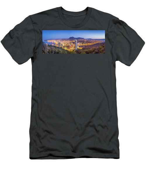 Benidorm At Sunrise, Spain. Men's T-Shirt (Athletic Fit)