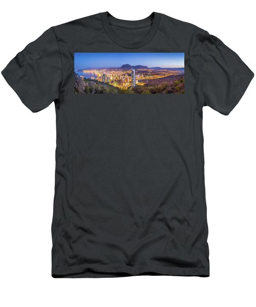 Benidorm At Sunrise, Spain. Men's T-Shirt (Athletic Fit)