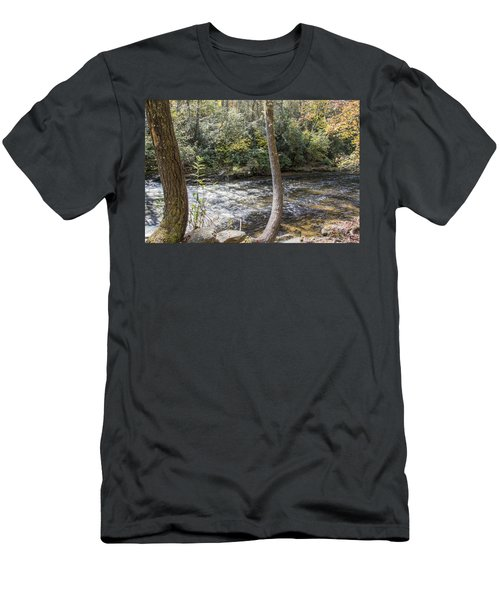 Bent Tree River Men's T-Shirt (Slim Fit) by Ricky Dean