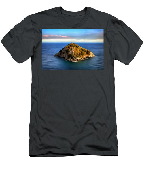 Bergeggi Island Men's T-Shirt (Athletic Fit)