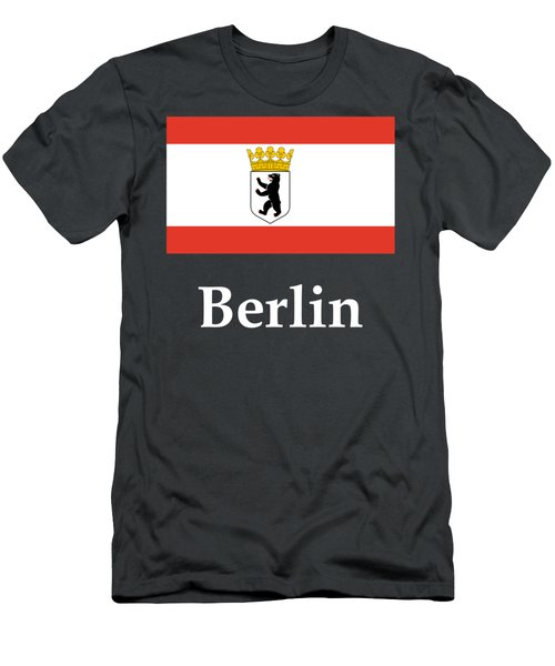 Berlin, Germany Flag And Name Men's T-Shirt (Slim Fit)