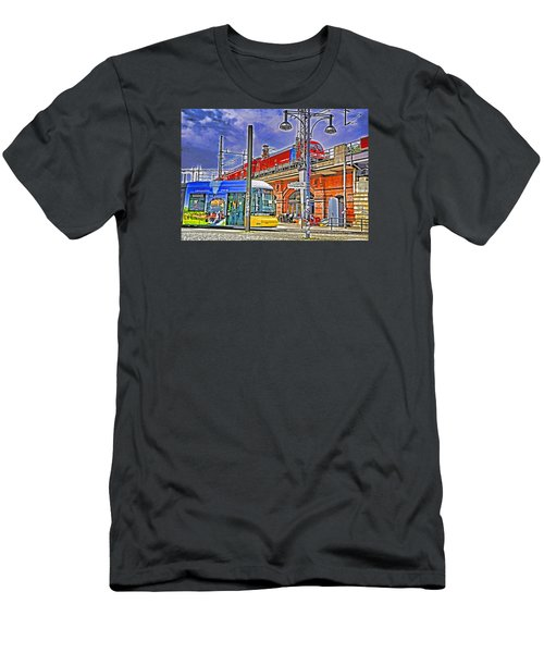 Men's T-Shirt (Slim Fit) featuring the photograph Berlin Transit Hub by Dennis Cox WorldViews