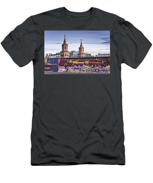 Men's T-Shirt (Athletic Fit) featuring the photograph Berlin Wall by Juergen Held