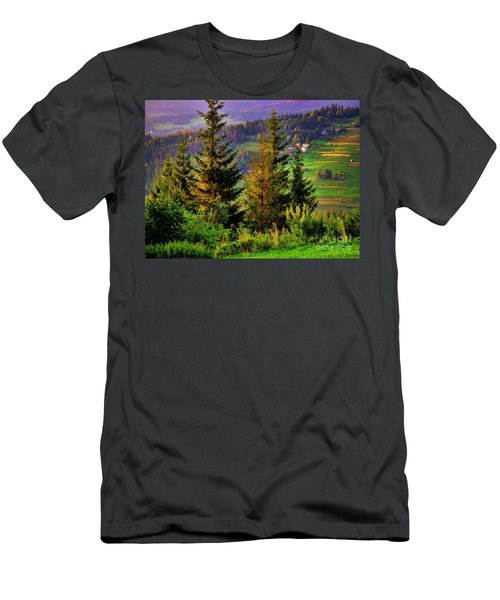 Men's T-Shirt (Slim Fit) featuring the photograph Beskidy Mountains by Mariola Bitner