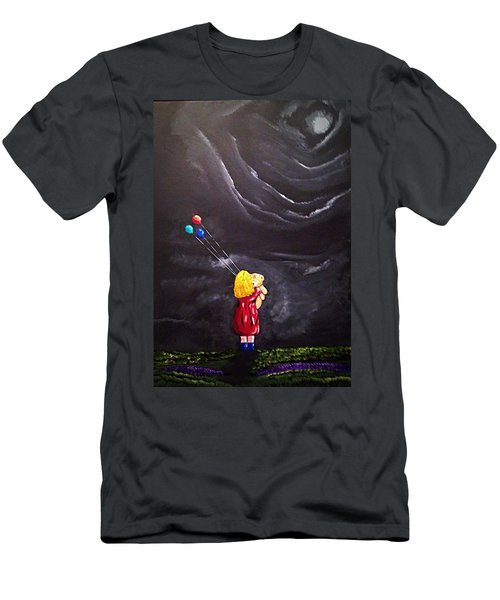 Men's T-Shirt (Slim Fit) featuring the painting Best Friends by Scott Wilmot