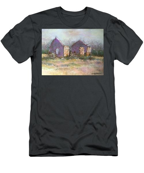 Men's T-Shirt (Slim Fit) featuring the pastel Bethel School At Sunset by Rebecca Matthews