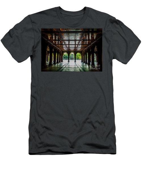 Bethesda Terrace Arcade 2 Men's T-Shirt (Slim Fit) by James Aiken